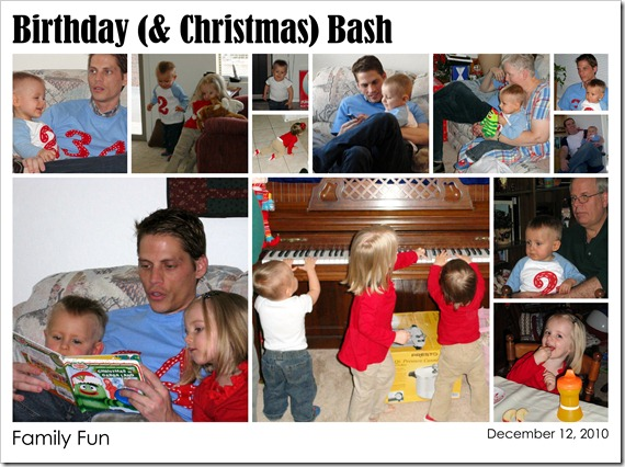 Birthday (& Christmas) Bash - Family Fun - 12.12.10