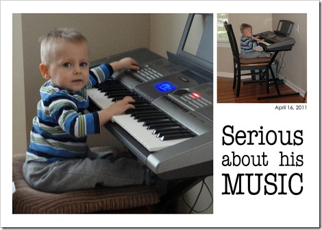 Serious about his music - April 16, 2011