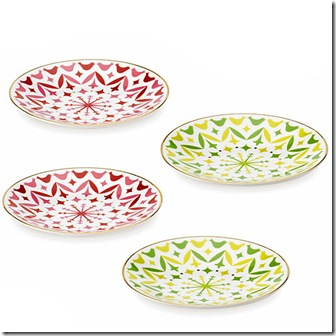 Holly Heights Tidbit Plates.katespade.com