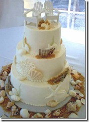 Adirondack Chairs and Shells on Tropical Wedding Cakes