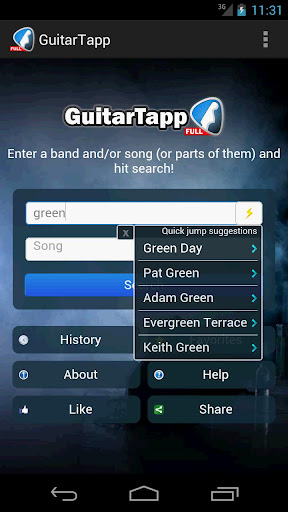 guitartapp-tabs-chords for android screenshot