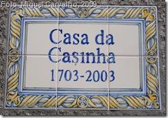 Inscrição à entrada da casa do Maestro Joaquim dos Santos