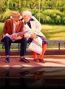 idosos na praça