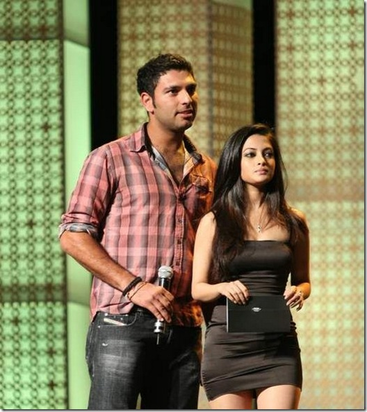 yuvraj singh with riya sen