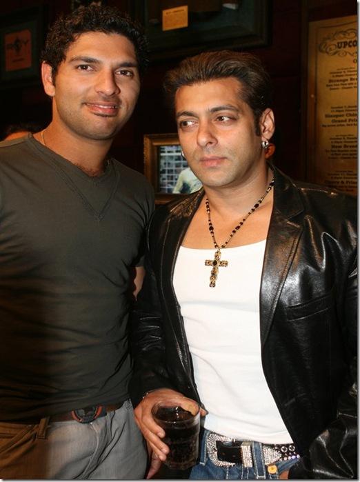 yuvraj with salman khan