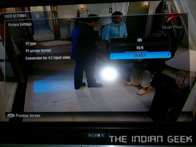Tata Sky  HD 13 - Settings - Picture
