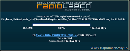Download RapidLeech v3.42.0 Custom Updated on 15-05-2011 latest version free