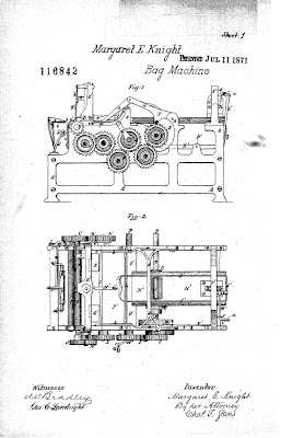 First illustration page from Margaret Knight's 1871 patent for a machine that could produce flat-bottomed paper bags.jpeg