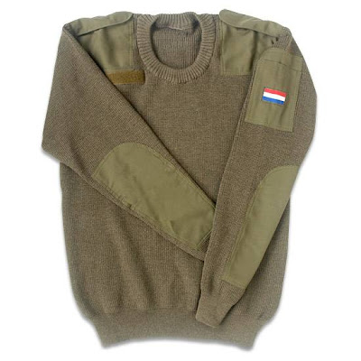 Dutch Commando Sweater New Small OD Green New Production Imported  100%  Wool  Washable.jpeg
