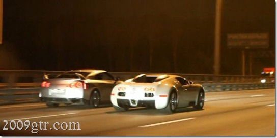 nissan gt-r vs bugatti veyron teaser video - 2009gtr