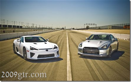 2010-nissan-GT-R-2012-lexus-LFA-front-three-quarters-static
