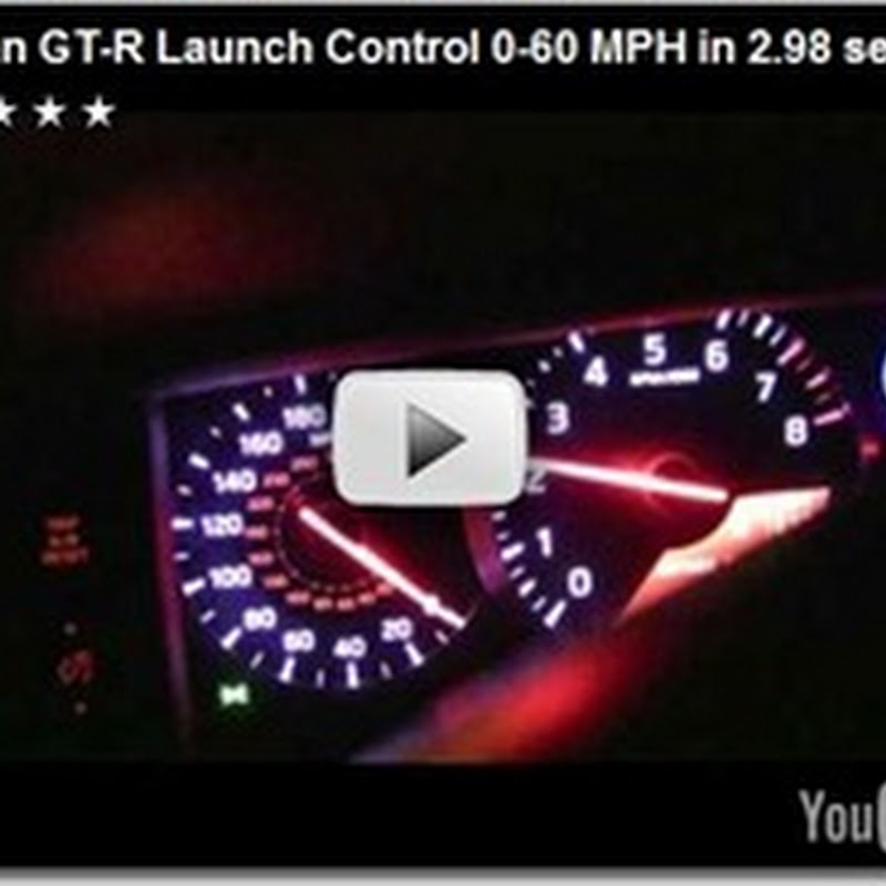 2.98 Seconds 0-60 MPH: GT-R Video