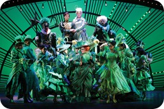 "Adam Garcia, Helen Dallimore Miriam Margolyes and Company in the London production of ""Wicked"" @ Apollo Victoria (opening 27-09-06)©Tristram Kenton 09-06 (3 Raveley Street, LONDON NW5 2HX TEL 0207 267 5550  Mob 07973 617 355 email: tristram@tristramkenton.com)"