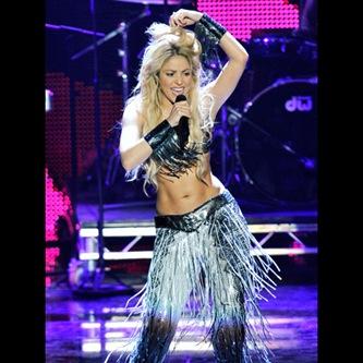 Shakira performing at MTV EMA 2010