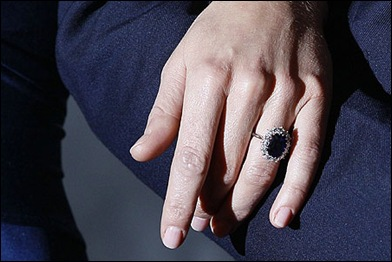 Princess Diana's Engagement Ring that Prince William gave to Kate Middleton