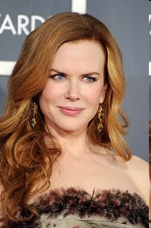 Nicole Kidman gemstone earrings at Grammy 2011