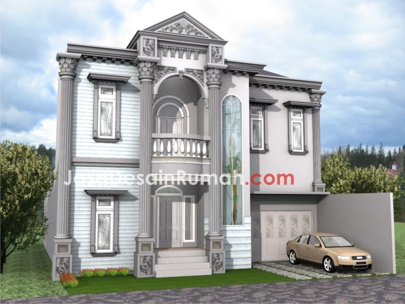 Konsep Tampak Rumah Klasik Jasa Desain Serupa Gambar Minimalis