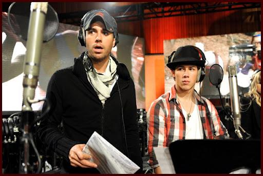 Jonas Brothers grabando WE ARE THE WORLD [Fotos!] Wearetheworld025