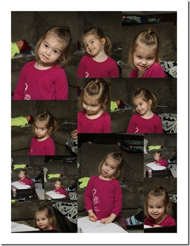 Sariah face collage