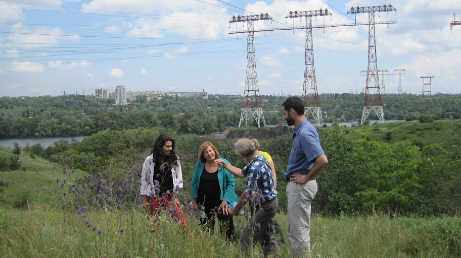 CSE Staff and Timothy Burroughs on Khortitsky Island, Ukraine