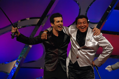 Jay dancing with Mithun Da on Dance India Dance on Zee TV