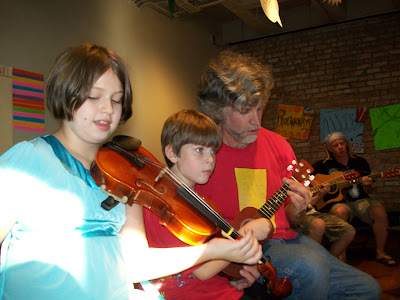 Deniece and Denephew at First Friday, Old Town School of Folk Music