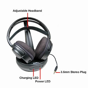 Audio Unlimited 900MHz Wireless Stereo Headphones