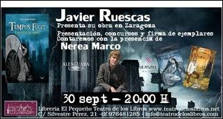 Presentación de Javier Ruescas en Zaragoza