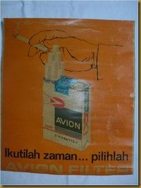 Poster kertas reklame rokok jadul AVION