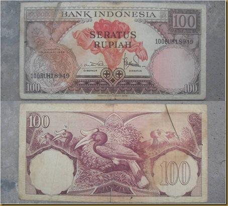 100 RUPIAH 1959