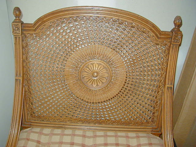 Hand Caned Medallion Back Chair