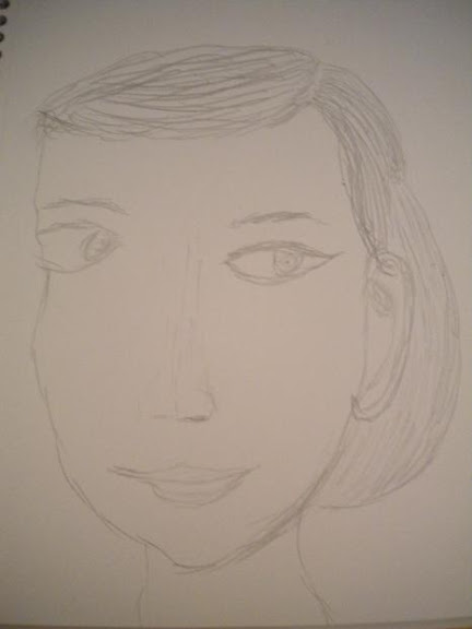 Sketch of Audry Hepburn