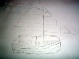 The sailboat I drew today
