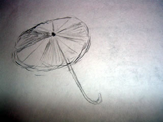 a drawing of an umbrella