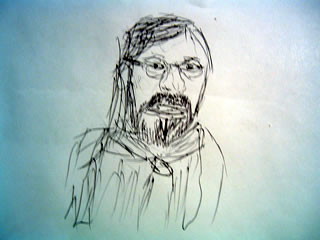 Sketch of Bill Bryson