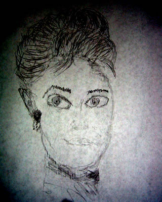 Drawing of Audry Hepburn