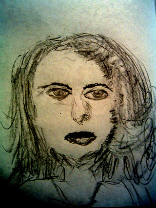 Sketch of Ingrid Bergman