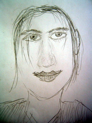 Sketch of Brian Molko