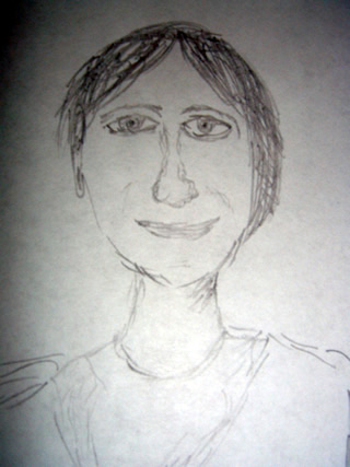 Sketch of Andrea Bodinar