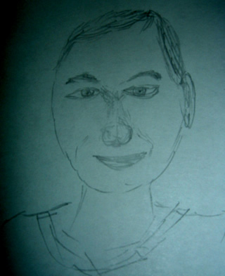 Sketch of Larry Page