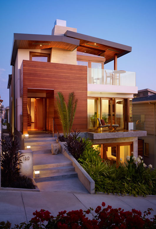 Modern architecture home designs floor plans for Modern malibu homes