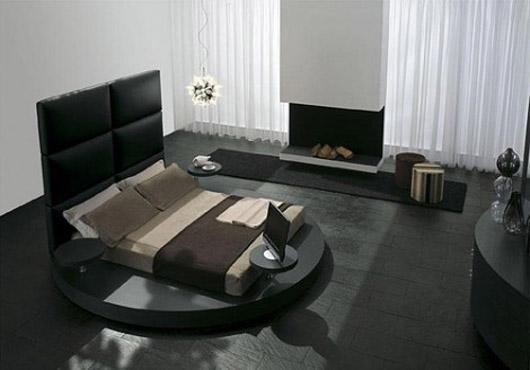 Circular Platform Bed Furniture Design Interior Ideas