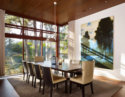 modern residence home design dining room