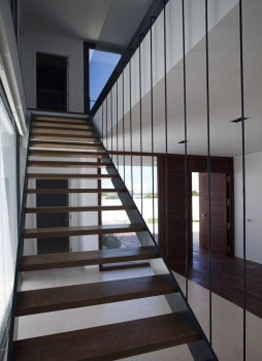 Summer Home Design Interior Wooden Stairs