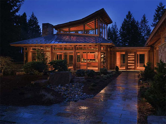 Architectural Luxury Wooden House Design Ideas