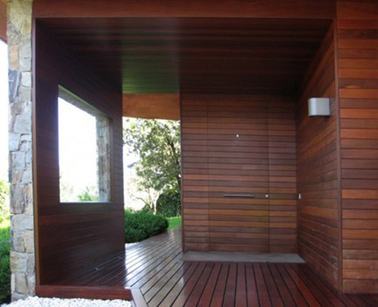 exterior decorating ideas wooden floors terrace