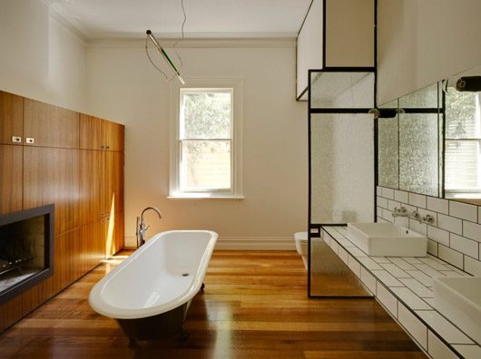 wooden home design interior bathroom
