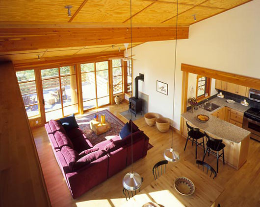 wooden house design interior living room