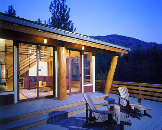 wooden house design exterior terrace