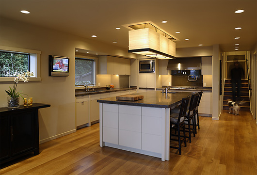 contemporary residence house design kitchen decorating